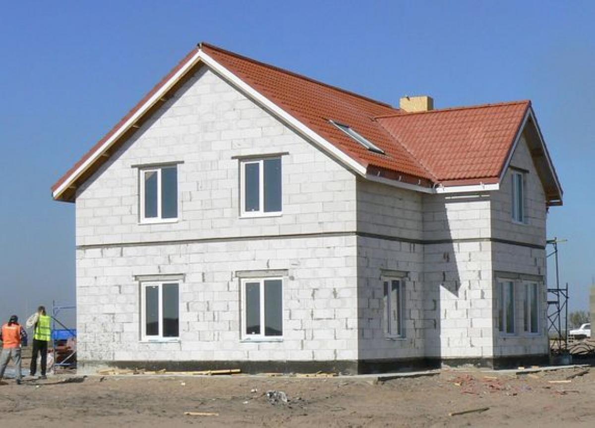 Дом из газбетона