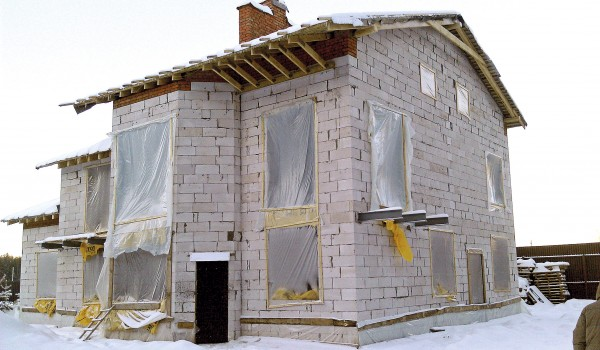 Консервация дома из пенобетона
