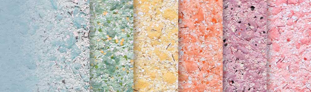 Цветовая гамма жидких обоев