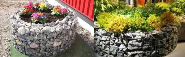 Каменно-сеточные грядки