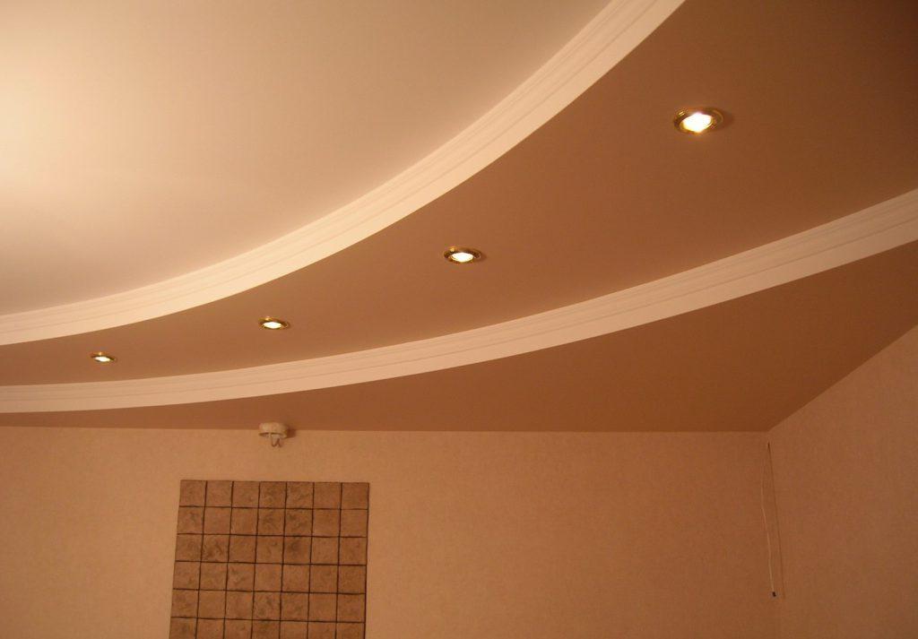 Потолок гипсокартонными плитами